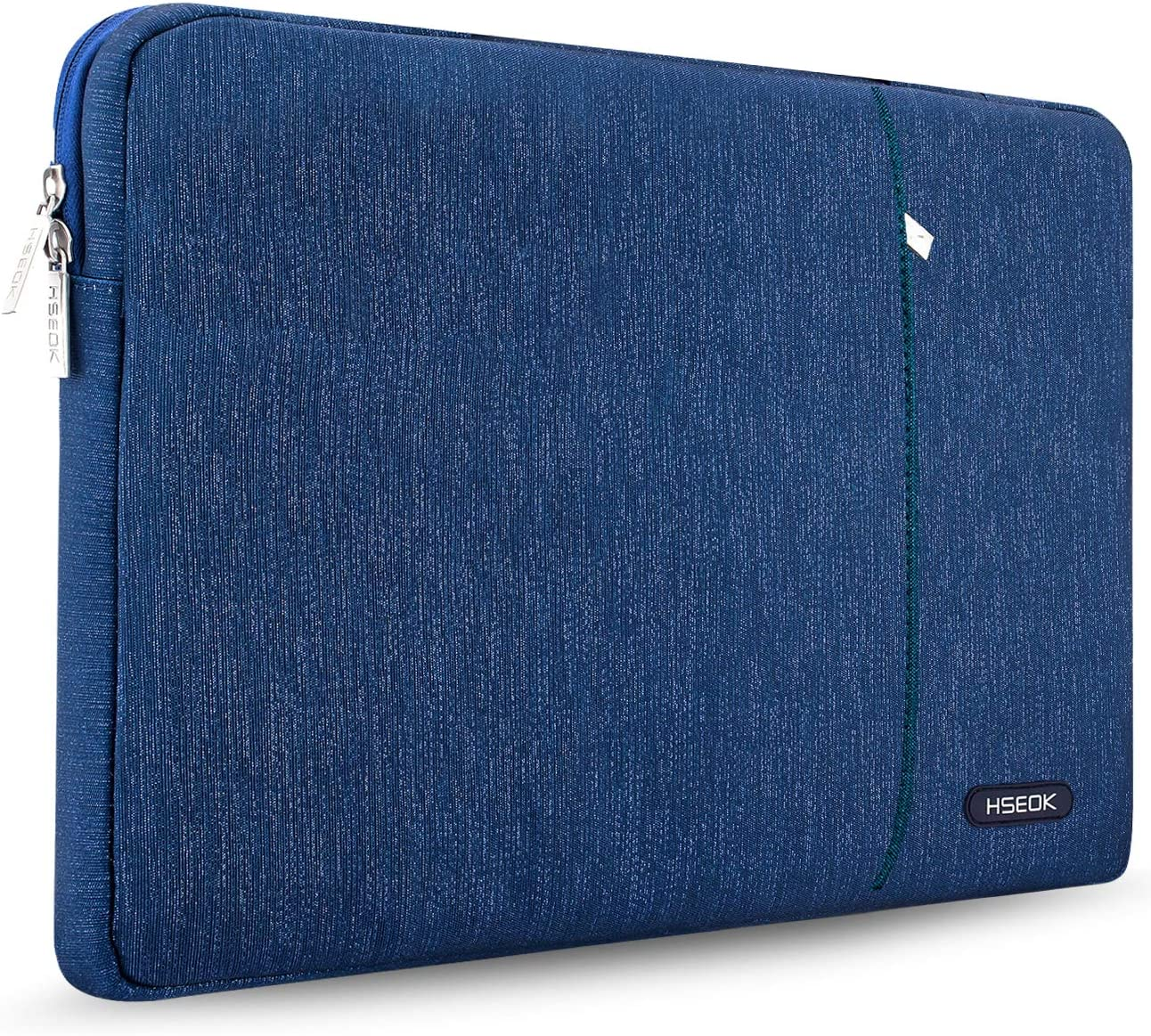 """HSEOK Laptop Sleeve 15-15.6 Inch Case for Most 15.6"""" MacBook Notebooks, Spill and Drop Resistant Carrying Case for HP Lenovo ASUS DELL Toshiba, Blue line"""