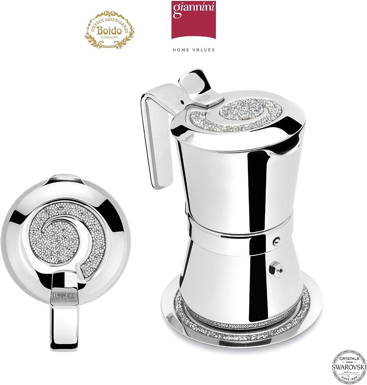Giannini 3003011 Giannina Edizione Limitata 3/1 - Cafetera con salvamanteles (cristales clásicos, no tóxicos), transparente: Amazon.es: Hogar