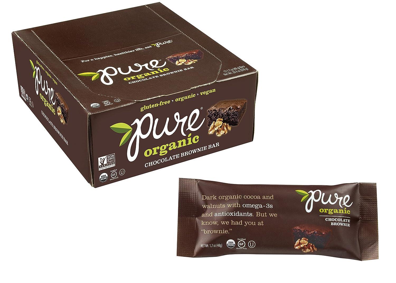 Amazon.com : Pure Organic Chocolate Brownie Bar, Gluten-Free ...
