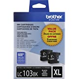 Brother Genuine High Yield Black Ink Cartridges, LC1032PKS, Replacement Black Ink, Includes 2 Cartridges of Black Ink, Page Y
