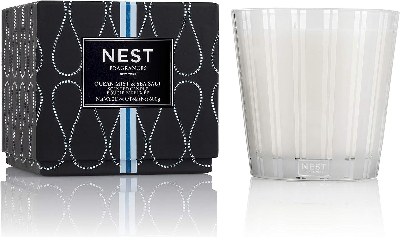 NEST Fragrances 3-Wick Candle- Ocean Mist & Sea Salt, 21.2 oz