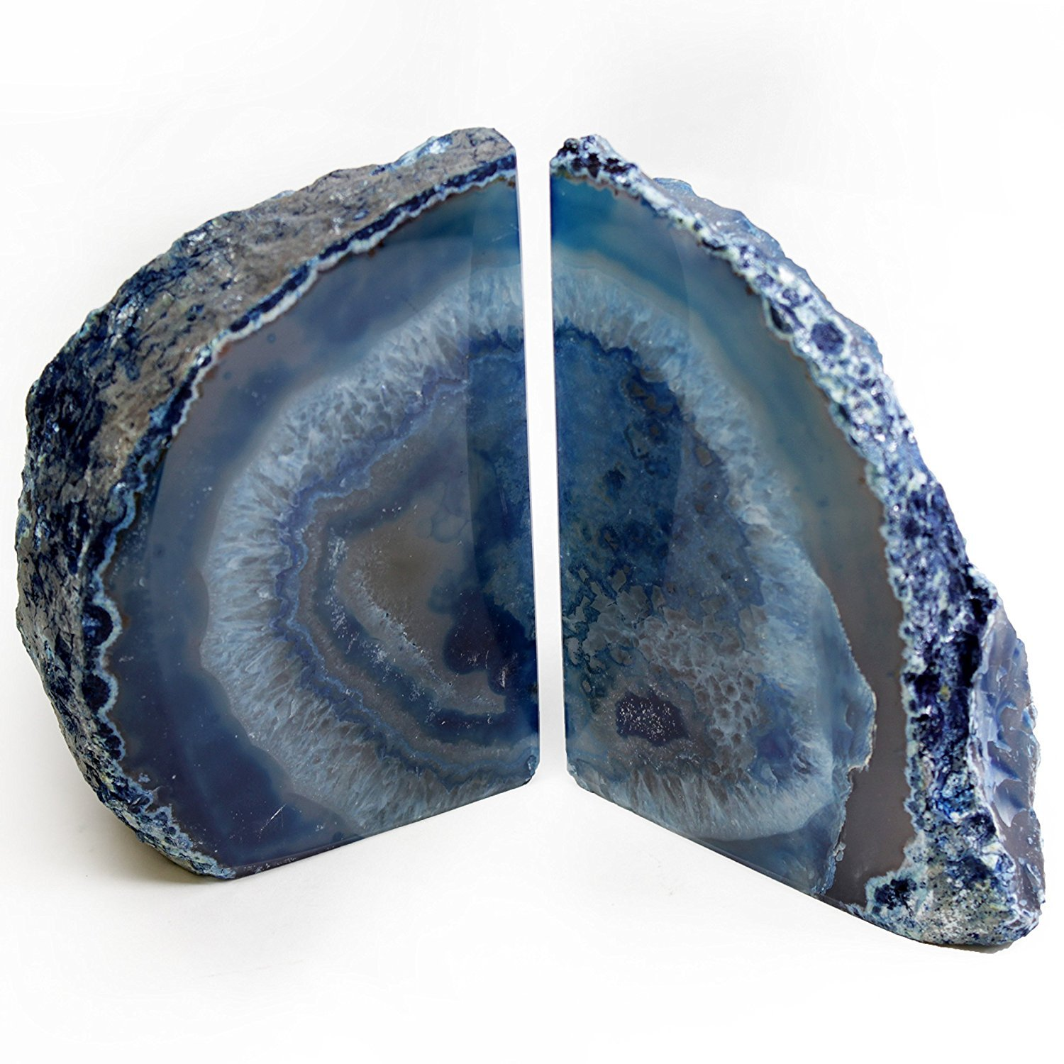 DIA Sold As Shown: Blue Agate Bookends Large Size (BU1) by LE