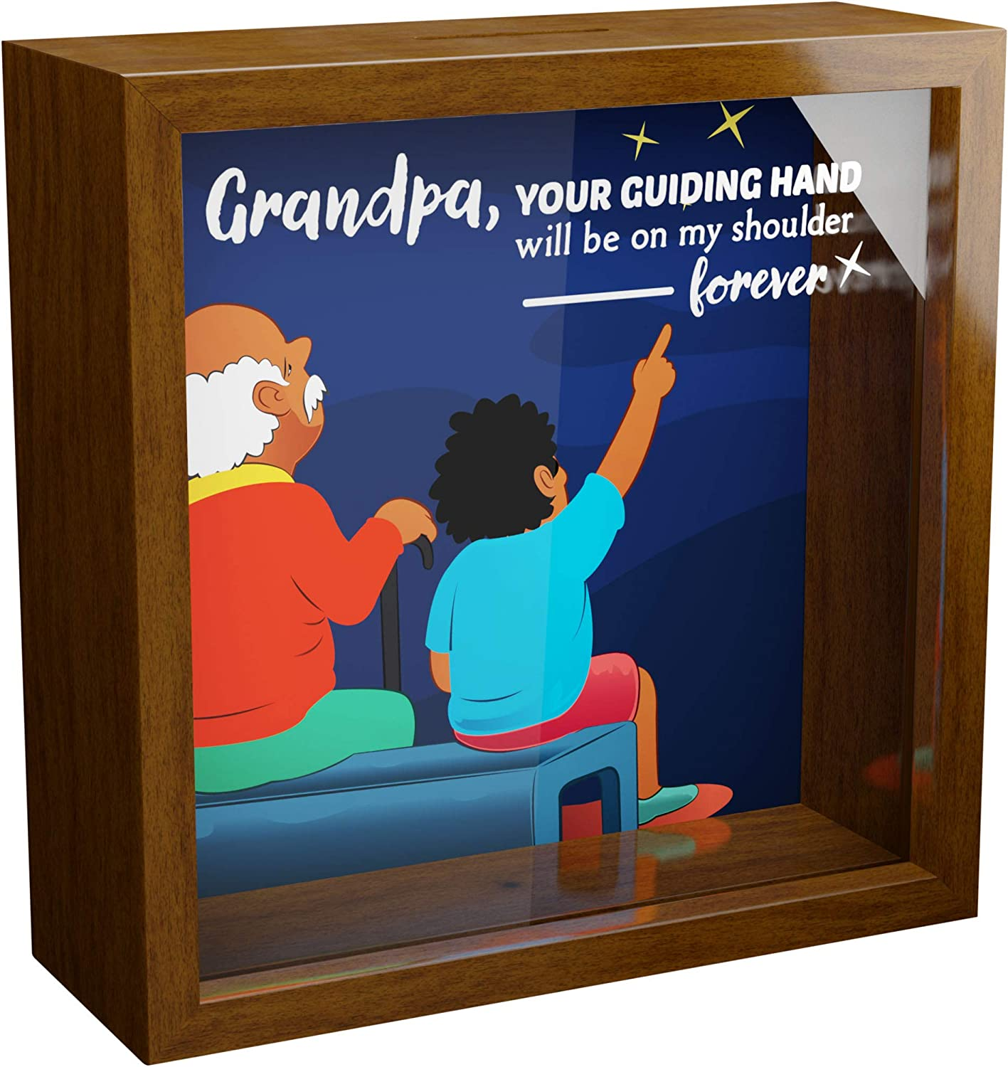 Personalised Grandad Gramps Dad Photo Picture Frame Gift Birthday Present Size 6x4 5x7 8x6 10x8 Any Wording