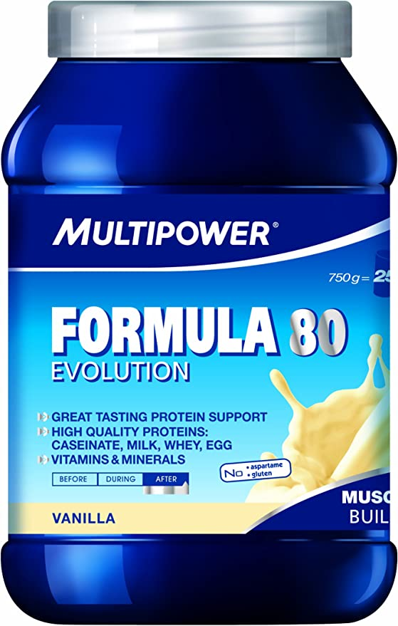 Multi Power Muscle Formula 80 proteína Shake 750 g de lata