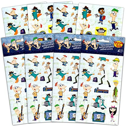 Phineas And Ferb Stickers Party Favors Pack Kids Over 100 Ferbs