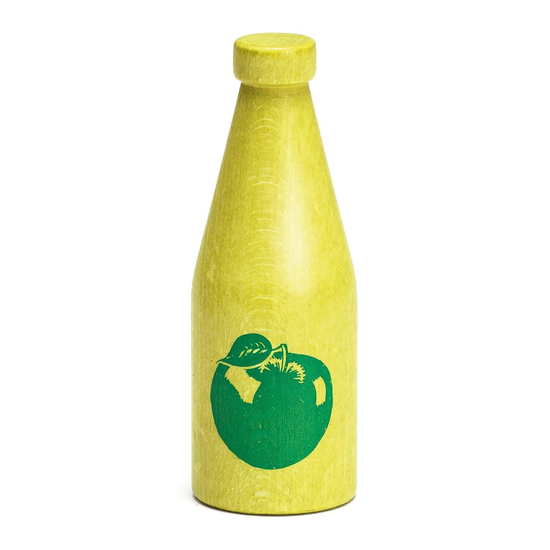 Erzi Pretend Play Wooden Grocery Shop Merchandize Apple Juice for The Youngest 3.8 x 11cm Happy Cube 18040