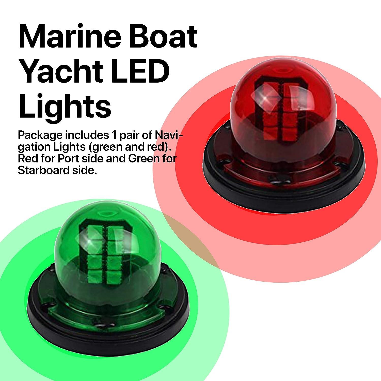 12V Marine Boat Yacht Pontoon Port Side Starboard LED Navigation Light Green