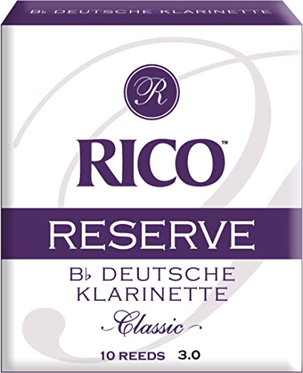 Strength 3.0 10-pack Rico Reserve Classic German Bb Clarinet Reeds