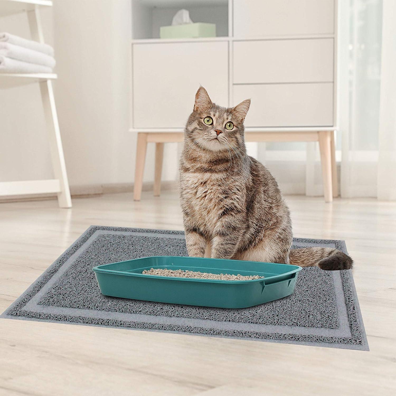 Litter Box Mat with Scatter Control Soft on Kitty Paws 61 X 35.5 CM PET PRIME DIRECT Cat Litter Mat Litter Trapping,Non-Slip Cat Litter Mat