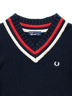 Pique Stitch Cotton Cricket Sweater 11-15-0782-060: Navy