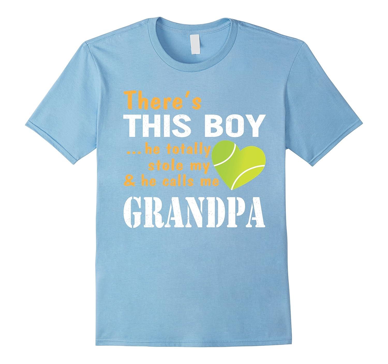 This Boy Totally Stole My Heart Call Tennis Grandpa T-Shirt