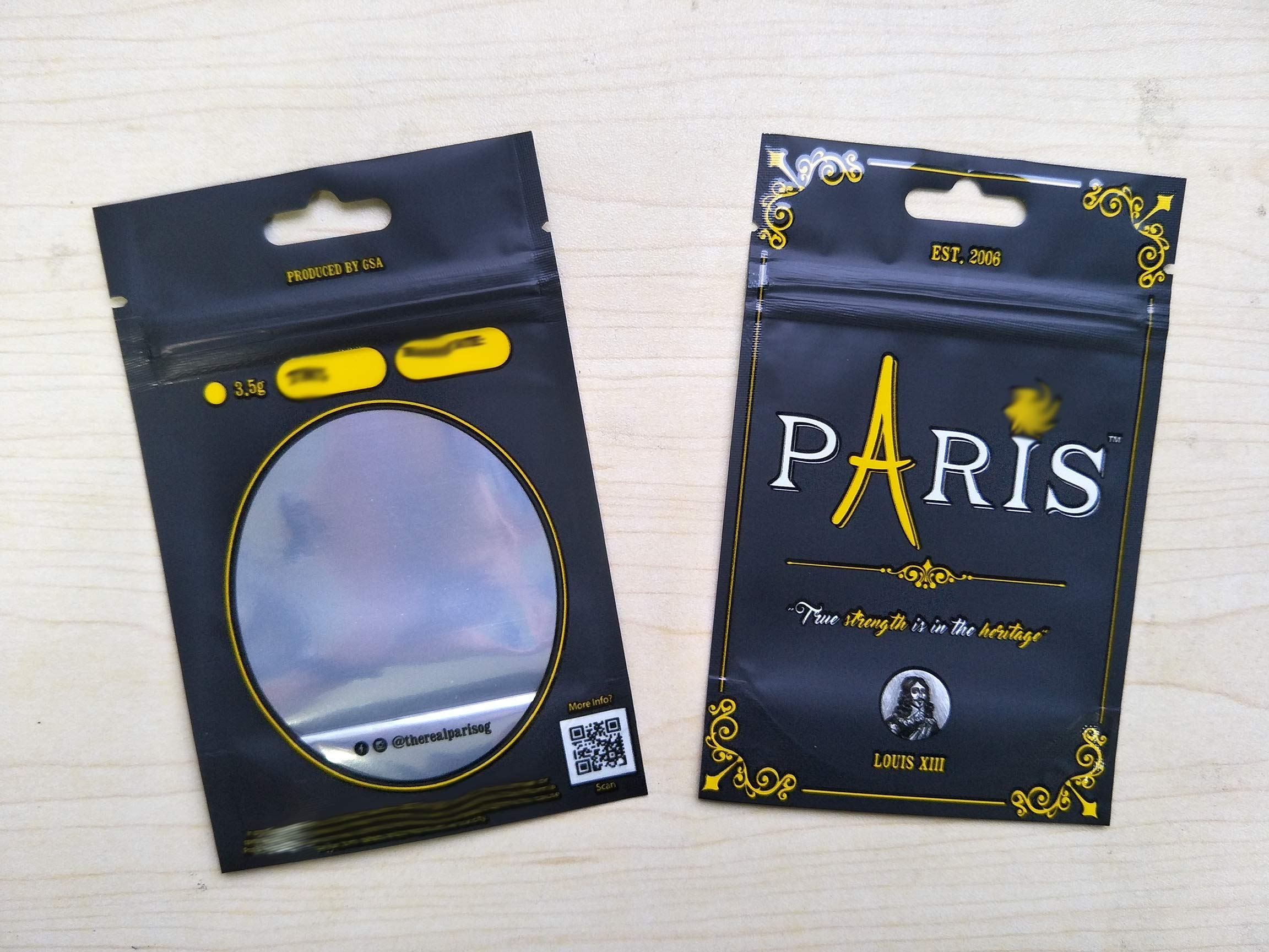 Paris Louis XIII Brand Mylar Bags (50 Pack) (Runtz Cookies Jungle Boys)