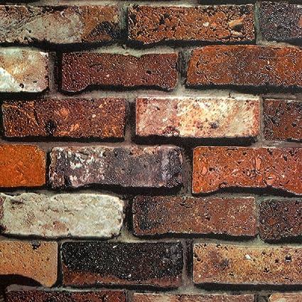 Modern 21 Inch By 394 Inch Stone Texture Pvc Waterproof Faux Rust