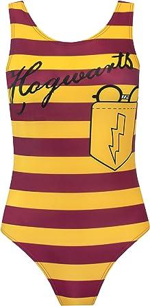 Harry Potter Bañador para Mujer Hogwarts Amarillo X-Large: Amazon ...