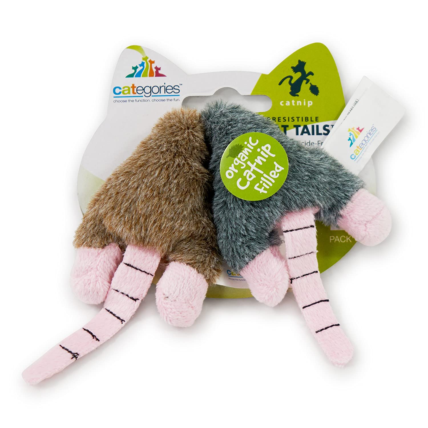 Mini Mice Twin Pack Funny Enticing Crinkle Chasing Cuddling Soft Plush Interactive Boredom Relief Catnip Filled Cat Toys Pet Craft Supply Co