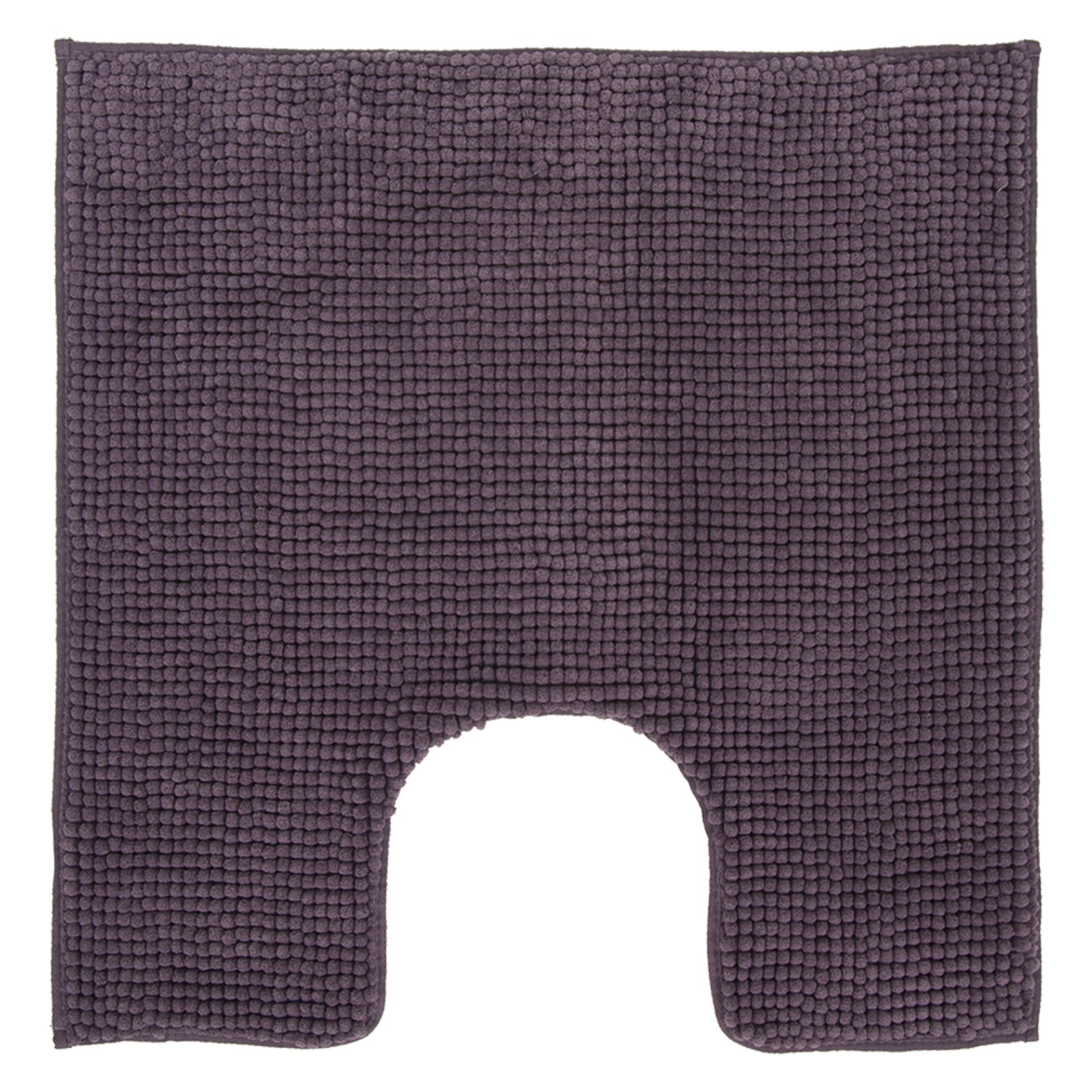 DIFFERNZ 31.102.97 Candore Bath Mat, Aubergine by Differnz