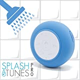 Splash Tunes Pro Shower Speaker – Ultimate Shower Speaker that is Portable, Hands Free, Wireless, Water Resistant, with Built-in Mic and Suction Cup (Royal Blue)