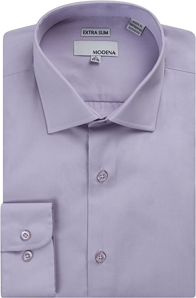 Colors Fit Long Sleeve Solid Dress Shirt Slim All Sizes Modena Men/'s Regular /& Contemporary