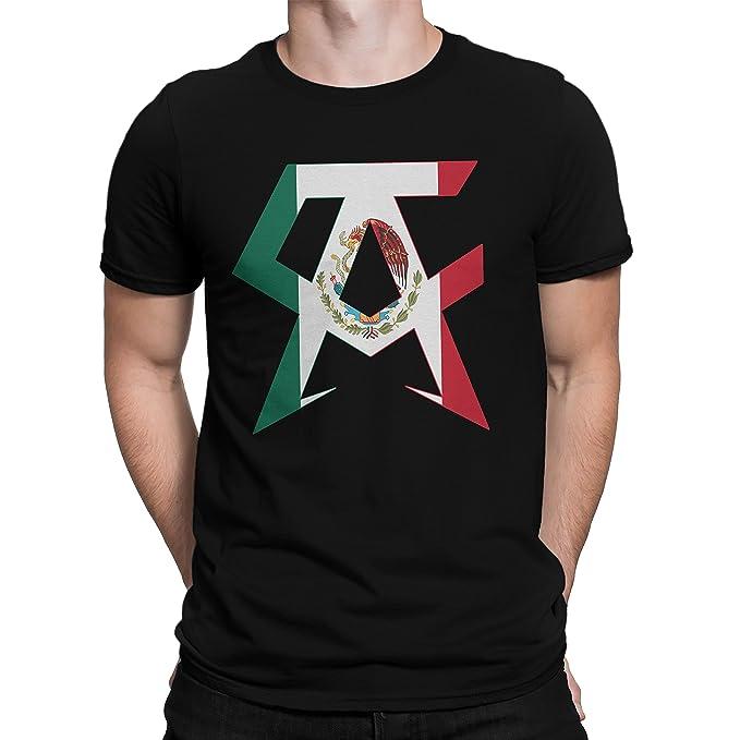 Amazon Canelo Saul Alvarez Flag Black T Shirt For Men Clothing