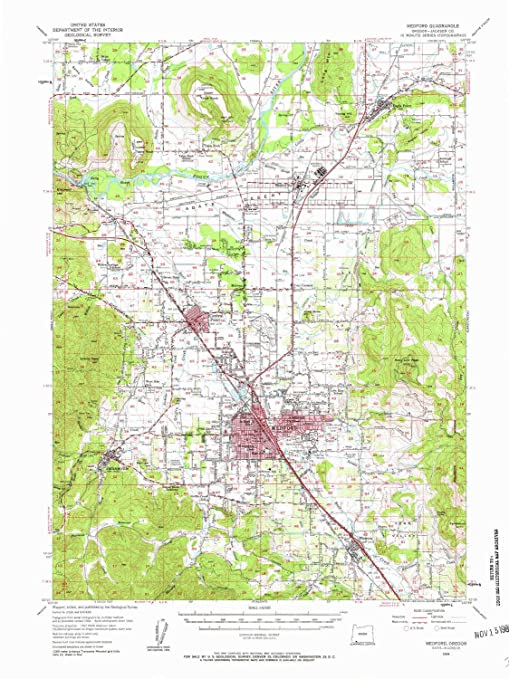 Amazon Com Yellowmaps Medford Or Topo Map 1 62500 Scale 15 X 15