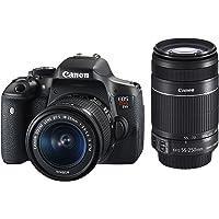 Kit Premium Canon Câmera Rebel T6i com Lente EF-S 18-55mm f/3.5-5.6 IS STM e EF-S 55-250mm f/4-5.6 IS STM