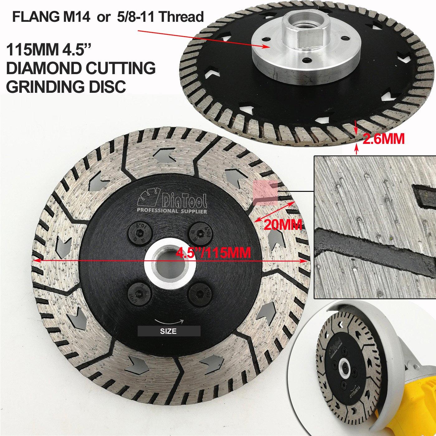 DIATOOL Diamond Grindng wheel Disc 2pcs 5 inches Cut Grind Sharpen Granite Dual Blades SHANGHAI DIATOOL CO LTD.