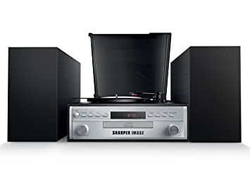 Sharper Image Sbt4005 Stereo Turntable Record Player With Speakers
