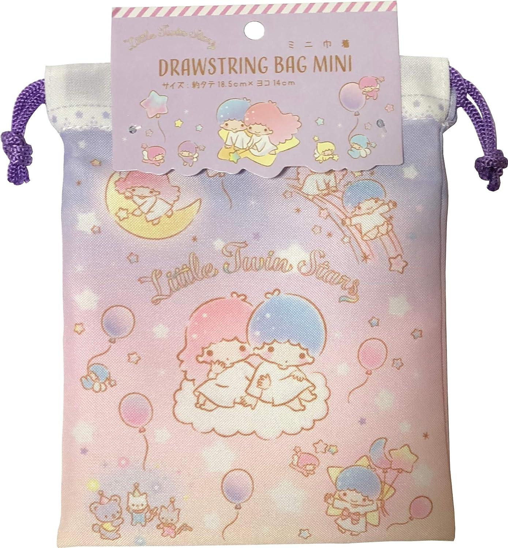 Sanrio Little Twin Stars Purse Drawstring Bag Mini polyester 14 /× 18.5cm Yumekawa