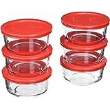 Pyrex 6-Piece Glass Food Storage Set with Lids (Glass, 12-Piece)