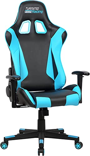 Turismo Racing Sovrano Series Gaming Chair Ergonomic Gaming Bucket Lumbar Support Executive Computer Nomic Chair PREV-blu