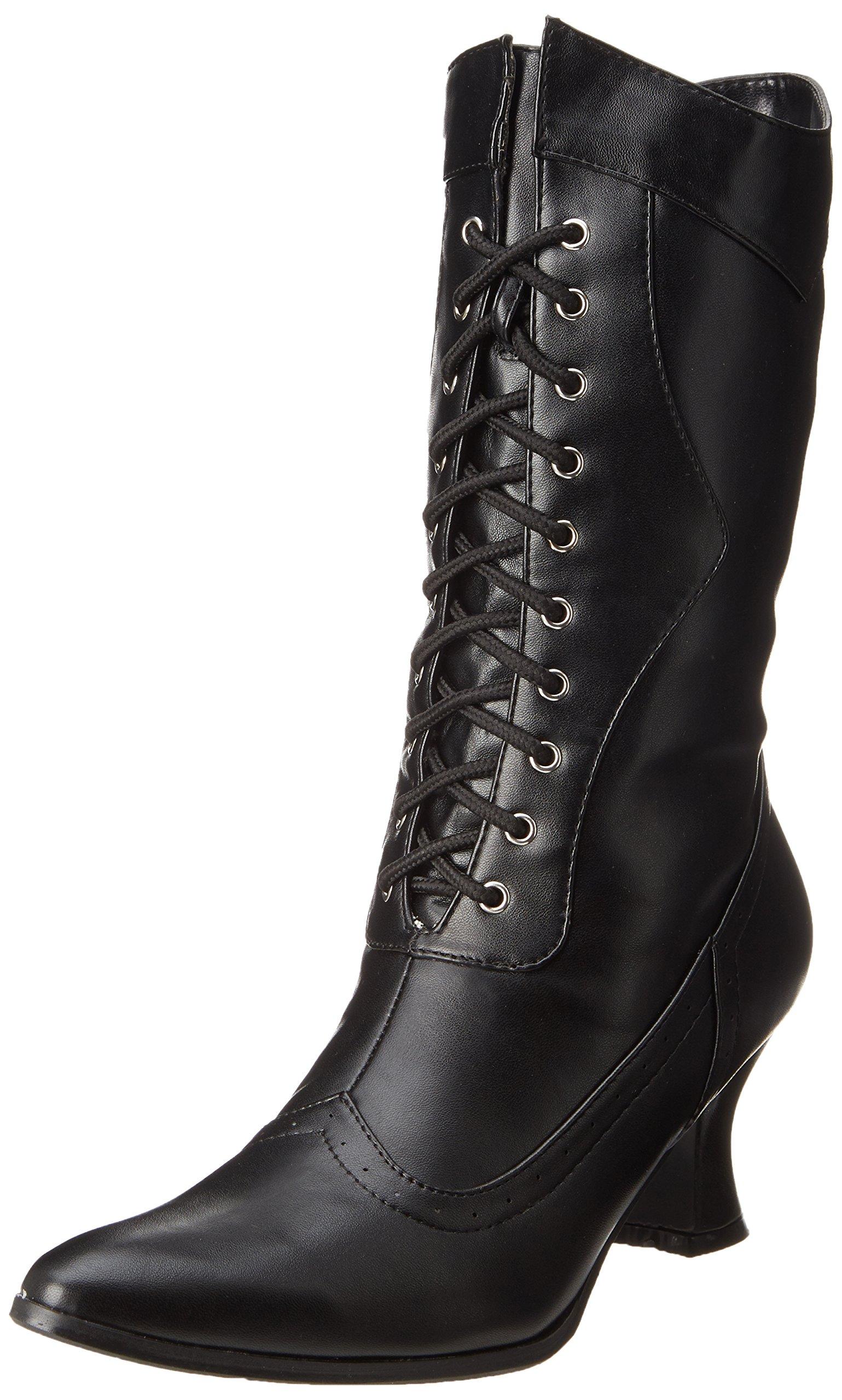 Ellie Shoes Women's 253 Amelia Victorian Boot, Black Polyurethane, 8 M US by Ellie Shoes