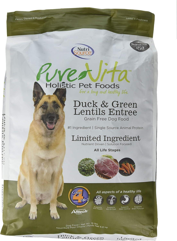 Purevita Grain Free Duck Dog Food 15Lb
