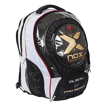 NOX Ml10 Pro P.1 Mochila de Pádel, Unisex Adulto, Blanco, Talla Única: Amazon.es: Deportes y aire libre
