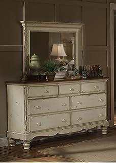 Amazon.com: Hillsdale Wilshire 4 Piece Bedroom Set in Antique ...