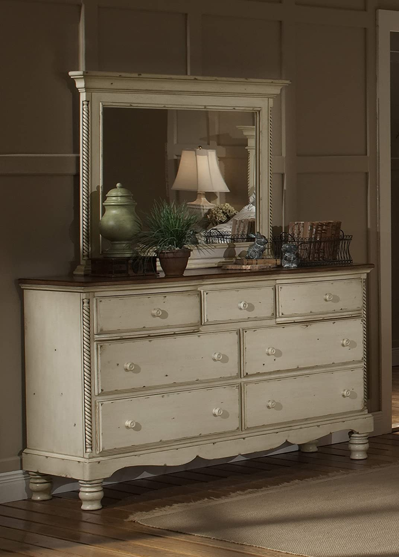 Amazon.com: Hillsdale Wilshire Antique White Double Dresser: Kitchen &  Dining - Amazon.com: Hillsdale Wilshire Antique White Double Dresser: Kitchen