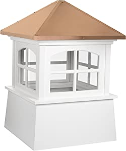 Good Directions 2118HV Huntington PVC Vinyl Cupola with Polished Copper Roof, 18-Inch x 25-Inch