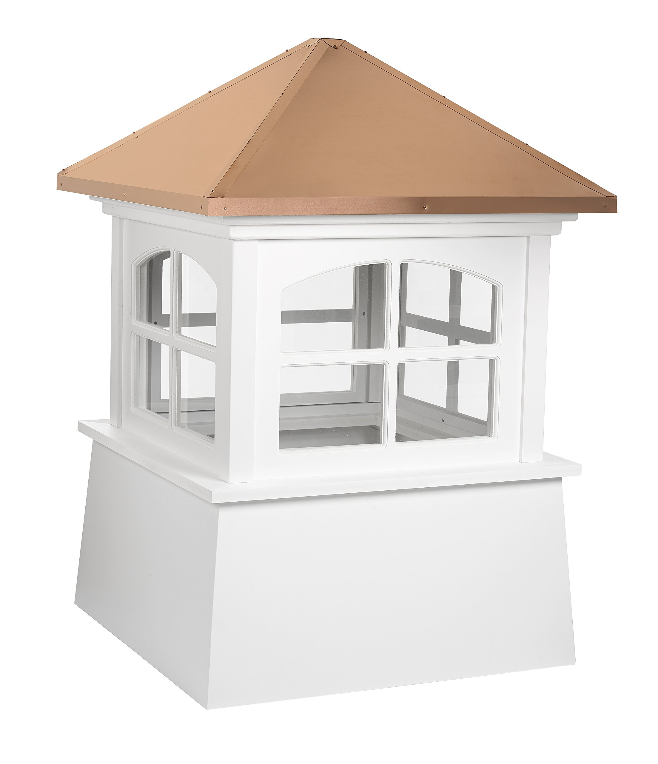Good Directions Huntington Vinyl Cupola with Copper Roof, 30'' x 43''