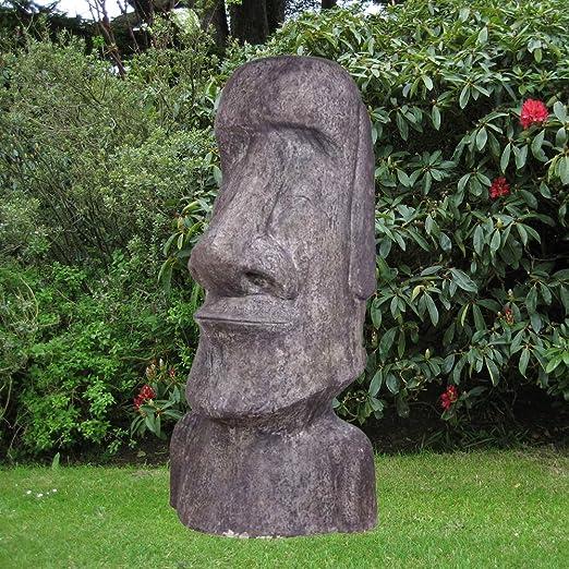 Estatuas de jardín grande - XL escultura de piedra de la Isla de Pascua: Amazon.es: Jardín