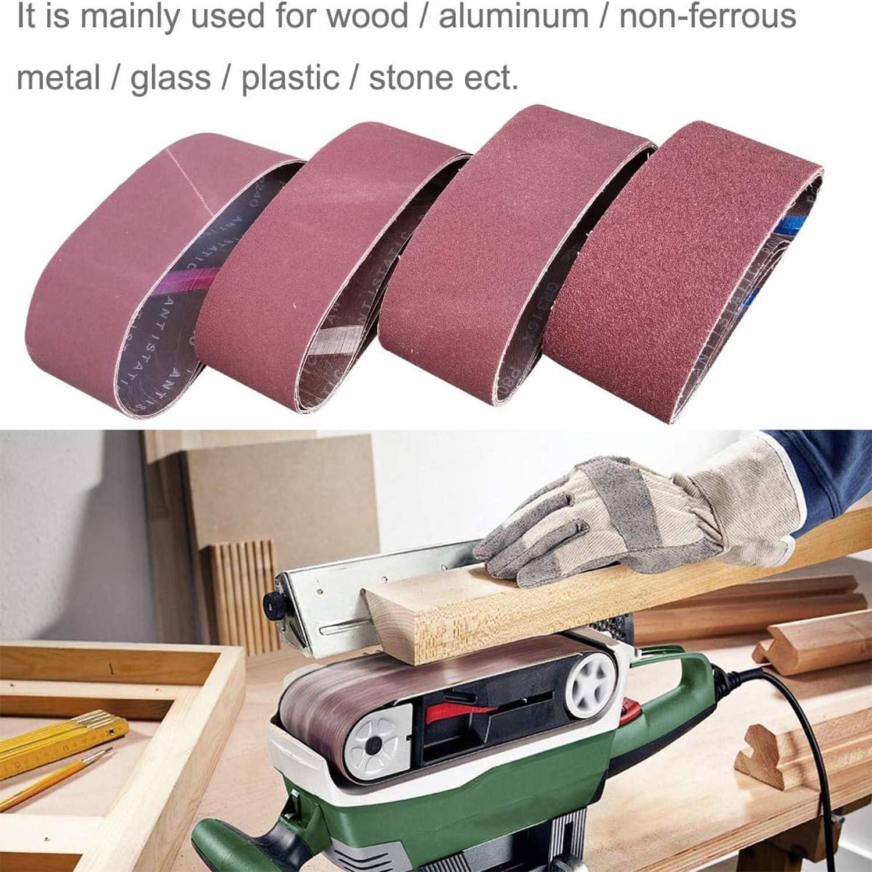 Tissu//tissu Bande de pon/çage Grains vari/és 75 x 533 mm Bandes de pon/çage Papier pour ponceuse /à bande Comius Sharp Ponceuse /à bande 10PCS 2 de 40,60,80,120,180 grains