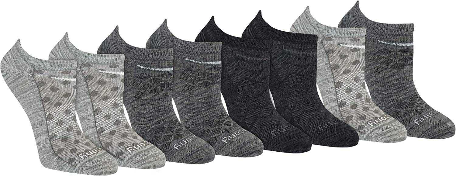 Saucony Womens 6-Pack Performance Super Lite No-Show Athletic Running Socks
