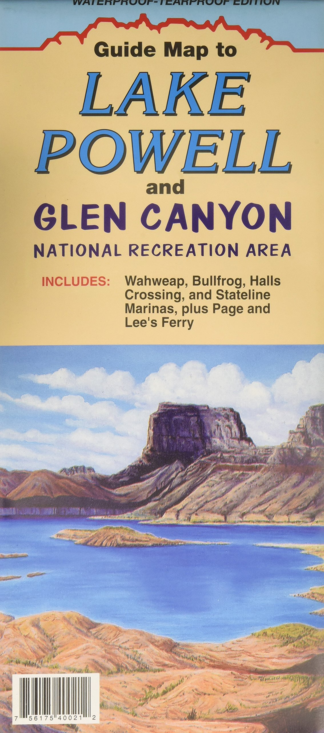 Guide Map to Lake Powell and Glen Canyon : Waterproof-Tearproof ...