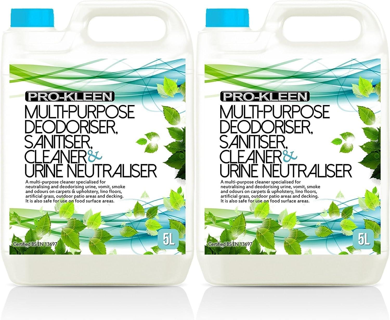 10L of Multi-Purpose Deodoriser, Sanitiser, Cleaner & Urine Neutraliser - Super Concentrated, Professional Formula - British Manufactured & British Certified EN 13697 Pro-Kleen PK25DN