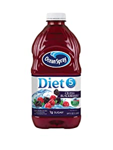 Ocean Spray Diet Cran-Blackberry Juice Drink, 64 Ounce Bottles (Pack of 8)