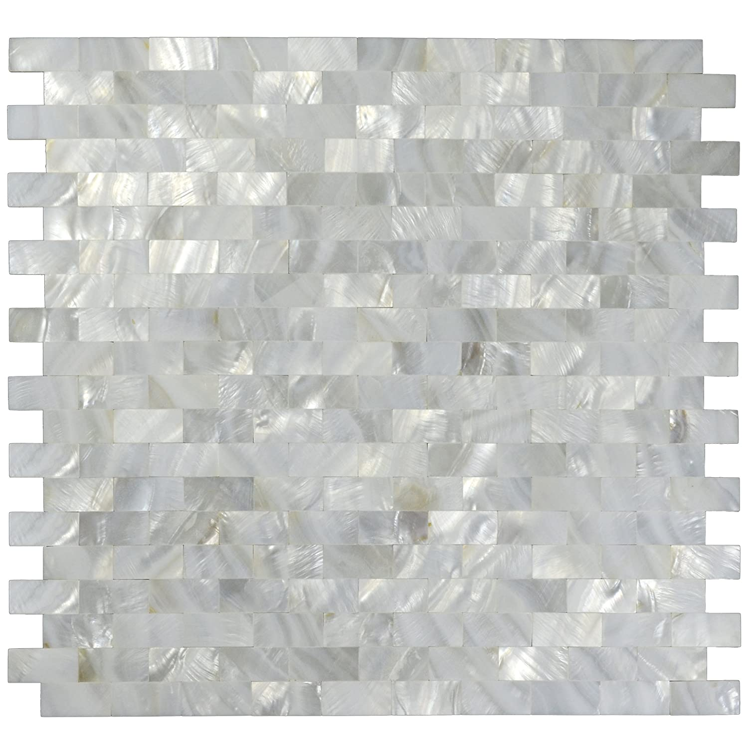 1 sq ft white mother of pearl tile shell mosaic tile kitchen backsplash bathroom wall tile amazoncom