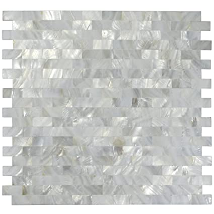 1 Sq Ft White Mother Of Pearl Tile Shell Mosaic Tile Kitchen Backsplash Bathroom  Wall Tile