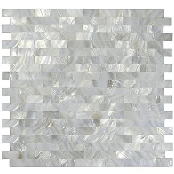 Blanc naturel Nacre Perle de carrelage mosaïque Coque pour carrelage ...