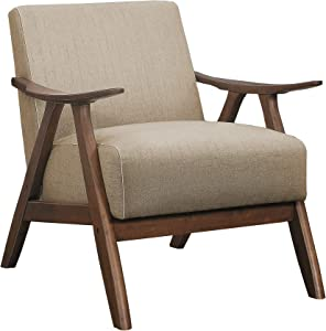 Lexicon Elle Fabric Accent Chair, Brown