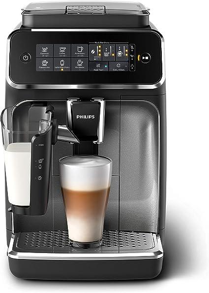 Philips EP3246/70 Serie 3200 - Cafetera super automática, 5 bebidas de café, jarra de leche LatteGo muy fácil de limpiar, molinillo cerámico, pantalla táctil: Amazon.es: Hogar