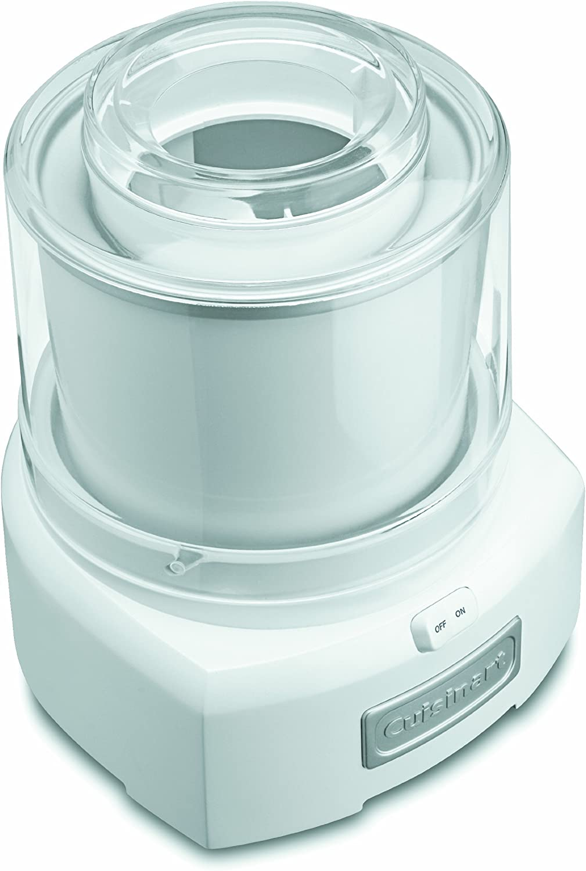 Cuisinart 1.5 Quart Frozen Yogurt ICE-21P1 Ice Cream Maker, Qt, White