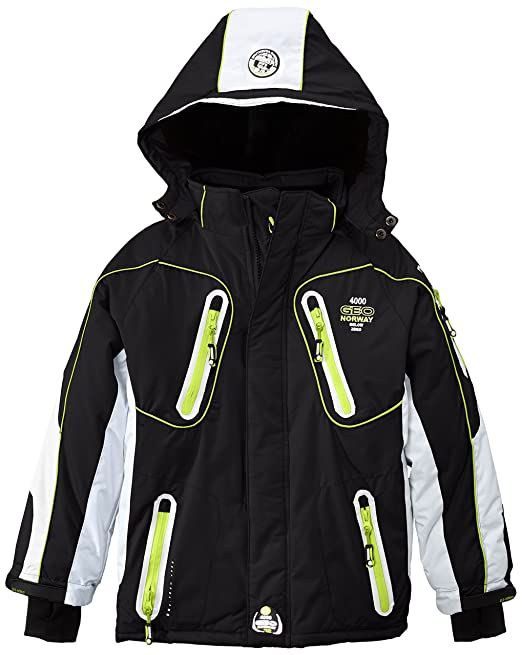 Geographical Norway Web - Chaqueta de esquí para niño, color negro/blanco, talla